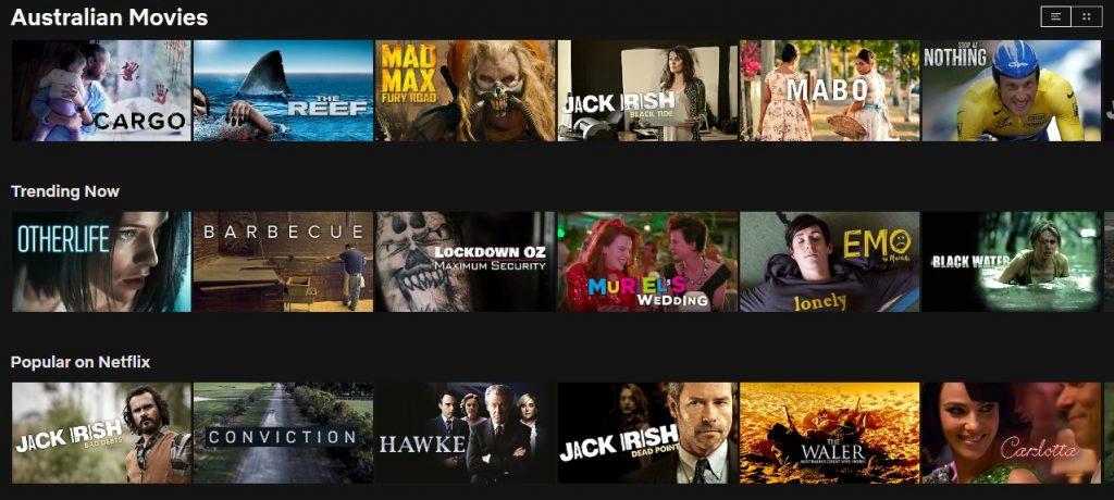 Australian content available on Netflix in Australia