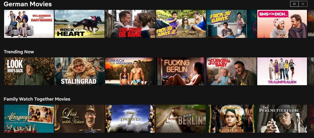 Lots of great German content can be found on Netflix in Germany