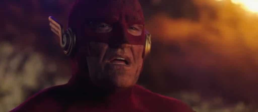 Doesn't look like The Flash has a good day on this picture from season 5 of the show.