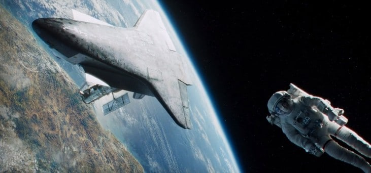 Lots of beautiful scenery in Gravity on Netflix