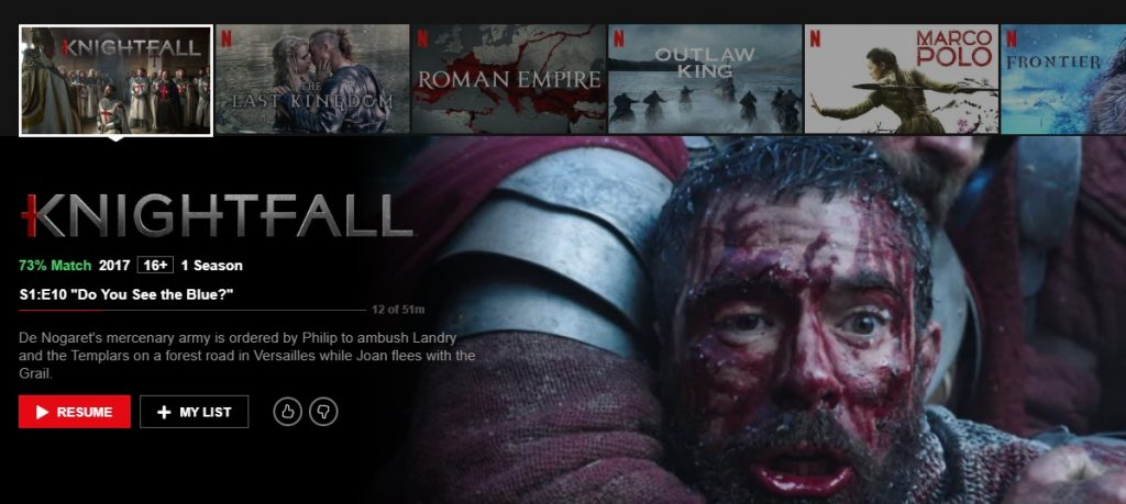 Knightfall on Netflix