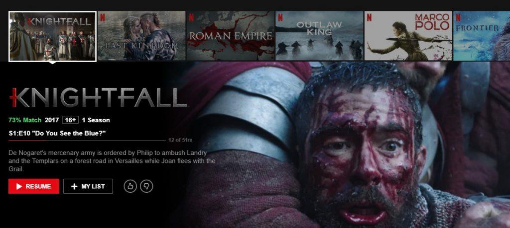 Knightfall on Netflix