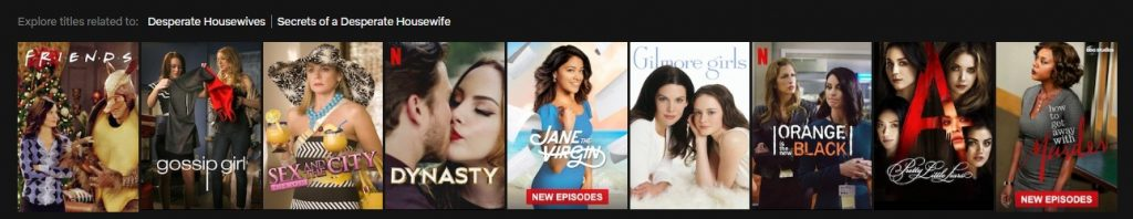 Content similar to Desperate Housewives on Netflix