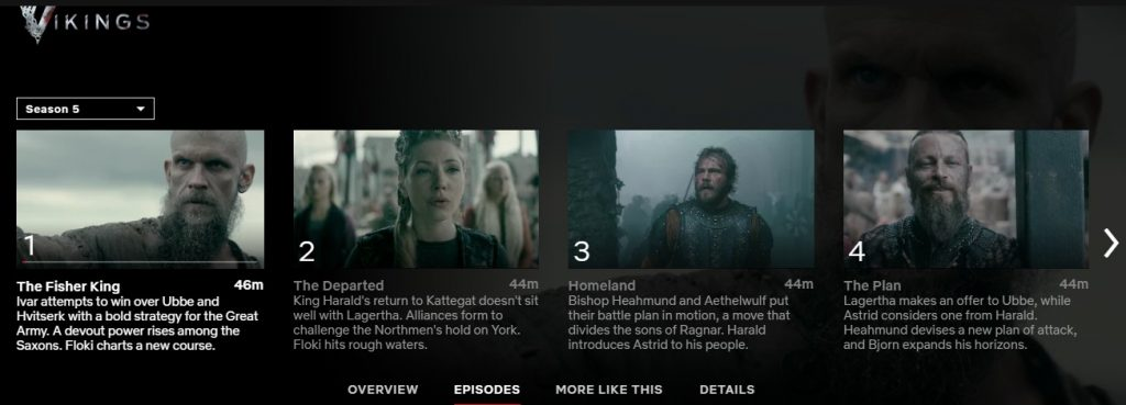 Where can I find Vikings season 5 on Netflix?