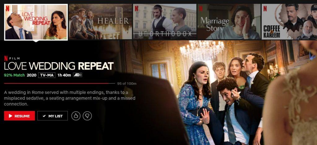 Love Wedding Repeat on Netflix