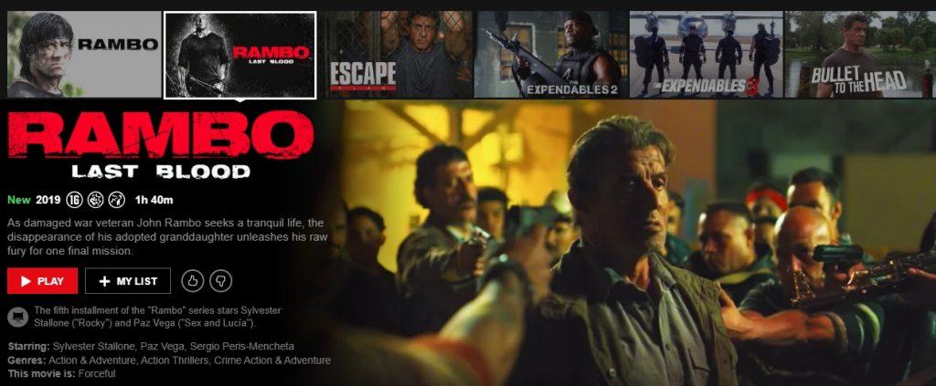 Rambo on Netflix