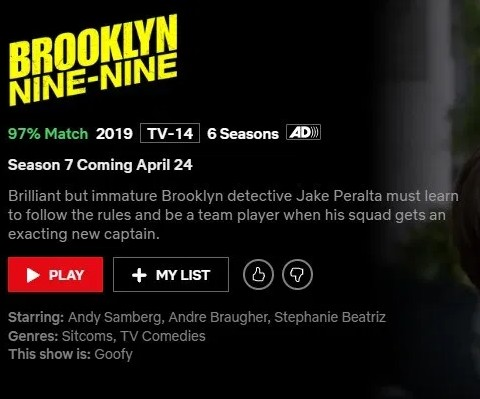 Brooklyn Nine-Nine season 7 will come to Netflix in April 2020