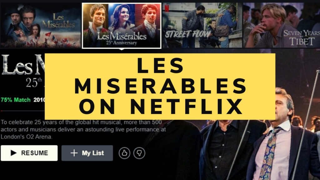 Les Miserables on netflix