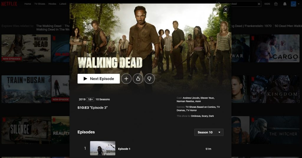 The Walking Dead season 10 on Netflix