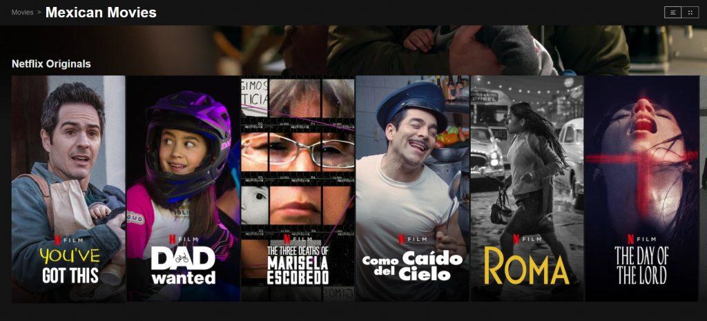 Mexican Netflix abroad