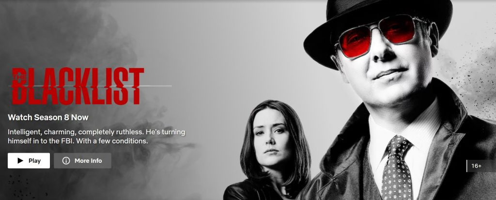 the blacklist season 8 on netflix