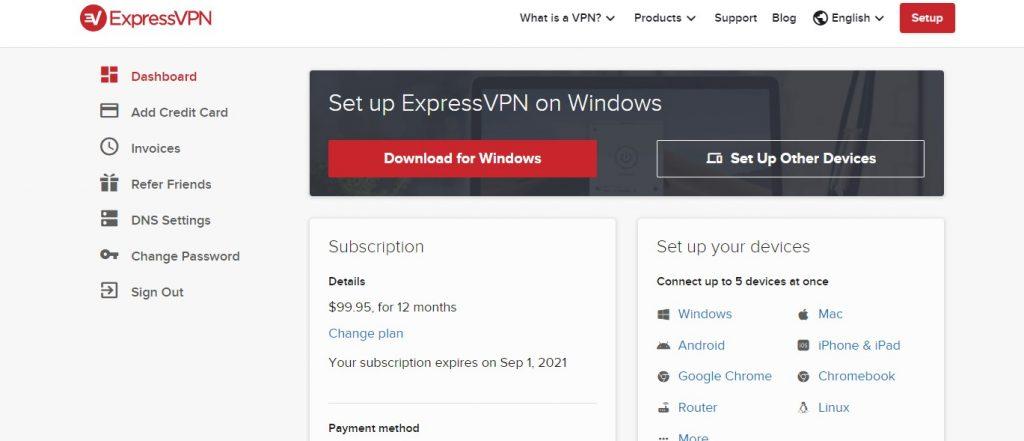expressvpn membership site