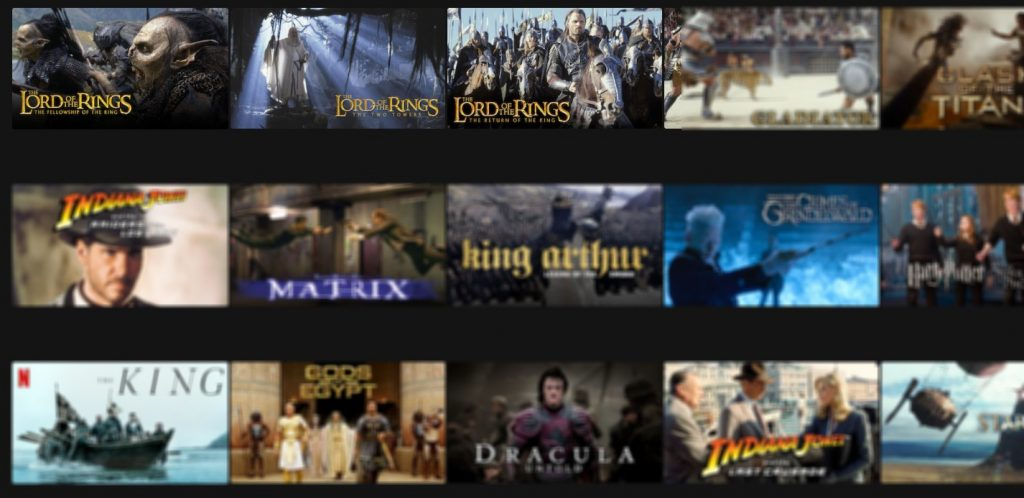 The Lord of the RIngs on Netflix